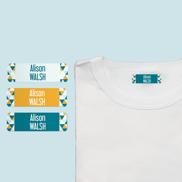 Personalized iron on name labels for your child clothes for Iron on shirt labels