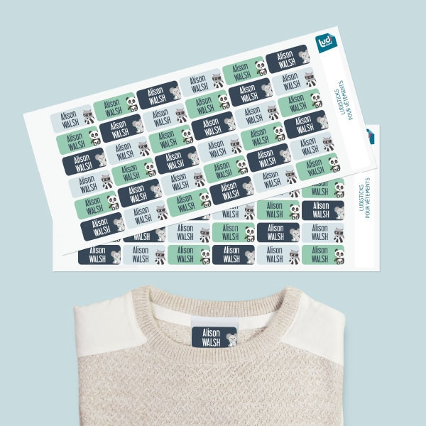 Ludisticks : stick-on name labels for clothes