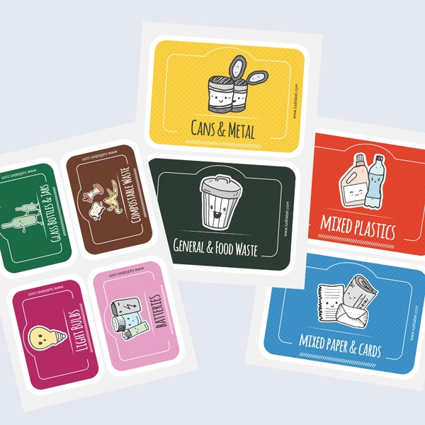 In-Home Recycling Bins Labels
