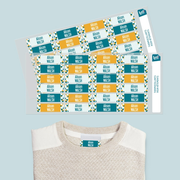Personalized Iron-on Name Labels for clothes