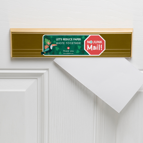 NO JUNK MAIL stickers kit