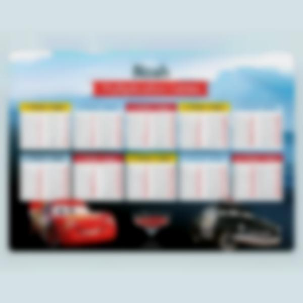 educational poster time tables cars 1