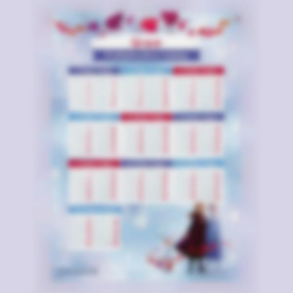 educational poster time tables frozen 1