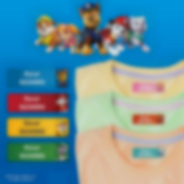 ludilabel paw patrol iron on name labels uk