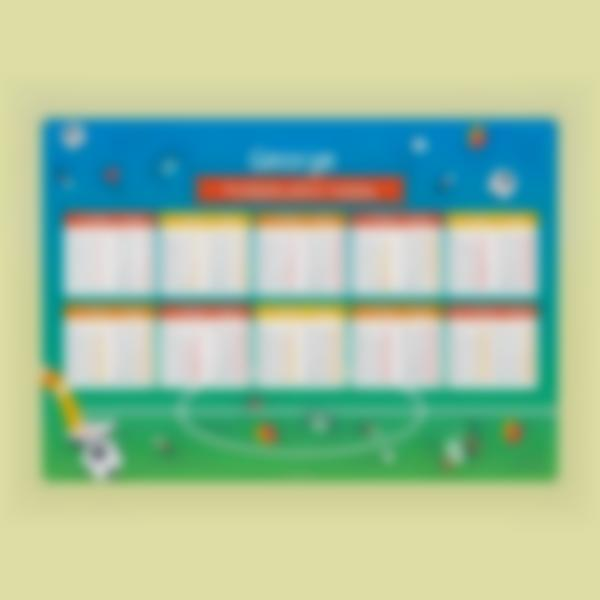 times tables poster football 1 1