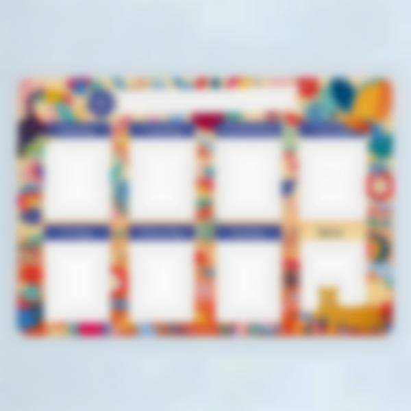 weekly magnetic white board organizer jungle vibes 01