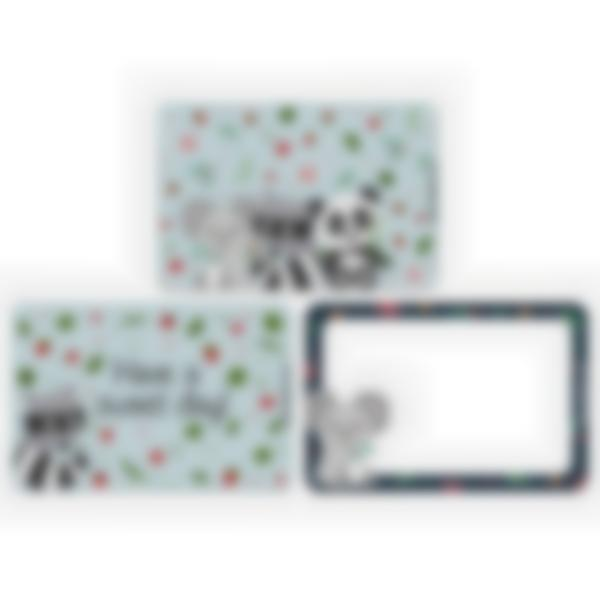 Set of 3 magnetic booster cards for the Ludibox - Lunch Box–Animals