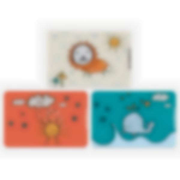 Set of 3 magnetic booster cards for the Ludibox - Lunch Box - Kids Doodle