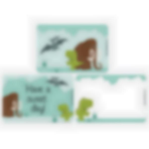Set of 3 magnetic booster cards for the Ludibox - Lunch Box–Dinosaur