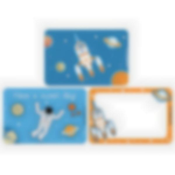 Set of 3 magnetic booster cards for the Ludibox - Lunch Box–Space