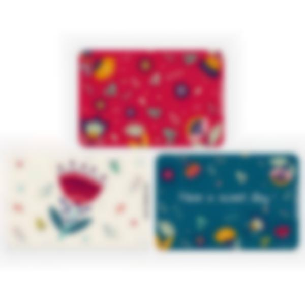 Set of 3 magnetic booster cards for the Ludibox - Lunch Box - Floral