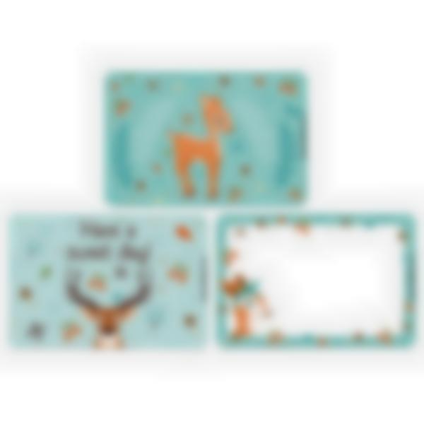 Set of 3 magnetic booster cards for the Ludibox - Lunch Box–Forest