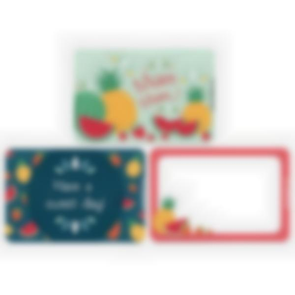 Set of 3 magnetic booster cards for the Ludibox - Lunch Box–Fruits