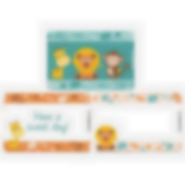 Set of 3 magnetic booster cards for the Ludibox - Lunch Box–Jungle
