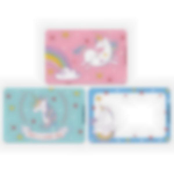 Set of 3 magnetic booster cards for the Ludibox - Lunch Box–Unicorn