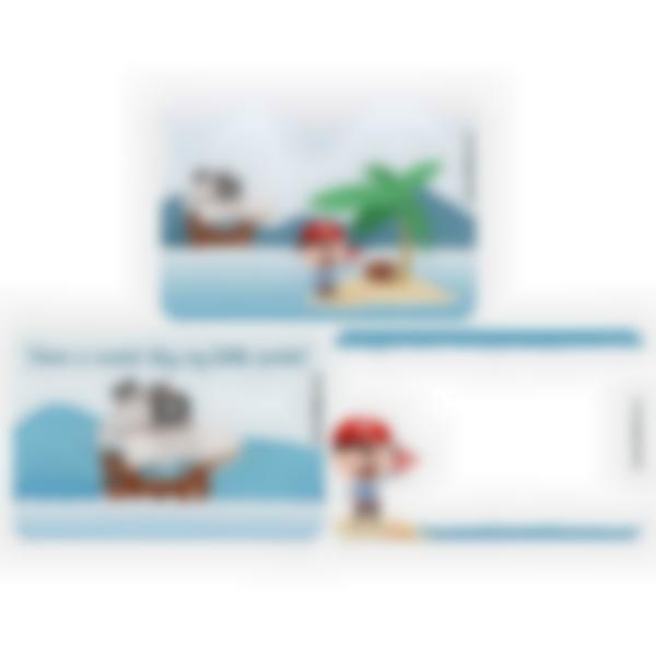 Set of 3 magnetic booster cards for the Ludibox - Lunch Box–Pirate