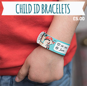 Reusable Child ID Bracelet to write parents contact info on.