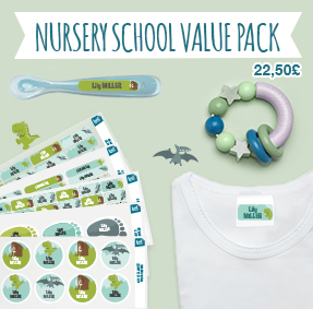 Name labels (stick-on and iron-on) to tag clothes and identify items at pre-school and nursery school.